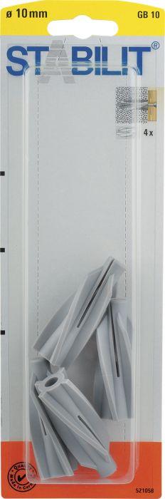 Siporextulppa Stabilit GB10 10 x 55 mm 4 kpl/pkt