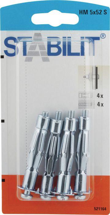 Läpivientitulppa Stabilit HM 5 x 52 mm S 4 kpl/pkt