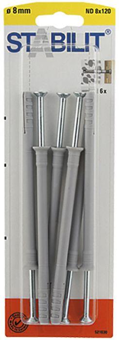 Naulatulppa Stabilit ND 8 x 120 mm 6 kpl/pkt