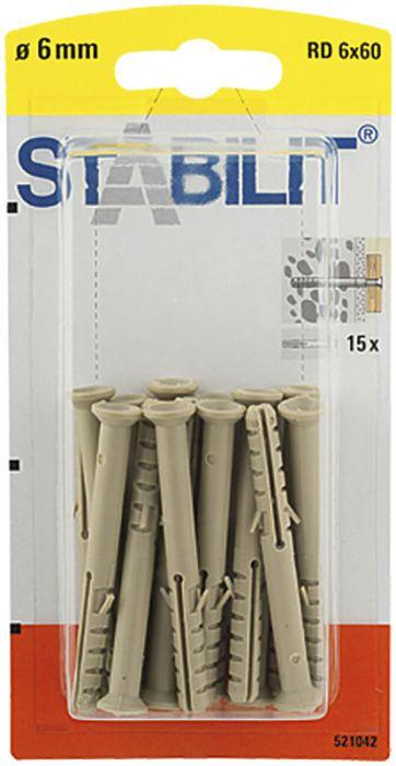 Välitulppa Stabilit RD 6 x 60 mm 15 kpl/pkt