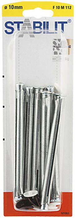 Kaulustulppa Stabilit Metalli 10 x 112 mm 6 kpl/pkt