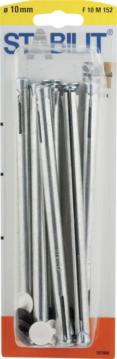 Kaulustulppa Stabilit Metalli 10 x 152 mm 6 kpl/pkt