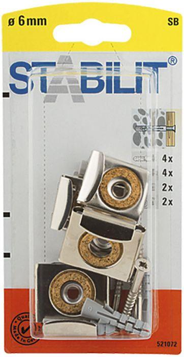Peilikiinnike Stabilit 6 x 40 mm 4 kpl/pkt