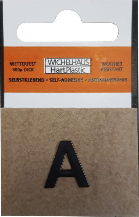 Kirjain Wichelhaus HartPlastic Musta 15 mm A