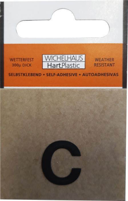 Kirjain Wichelhaus HartPlastic Musta 15 mm C