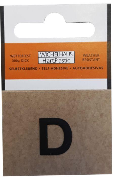Kirjain Wichelhaus HartPlastic Musta 15 mm D