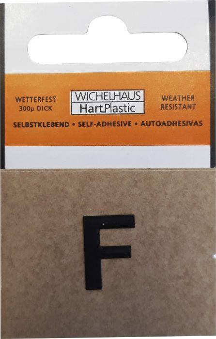Kirjain Wichelhaus HartPlastic Musta 15 mm F