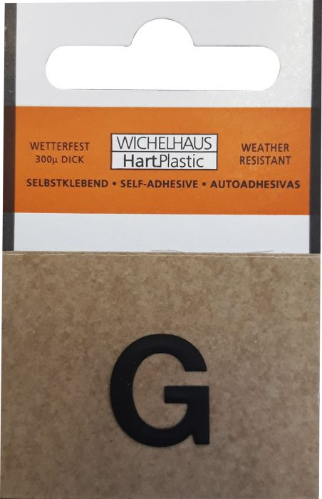Kirjain Wichelhaus HartPlastic Musta 15 mm G