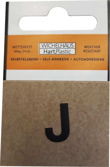 Kirjain Wichelhaus HartPlastic Musta 15 mm J