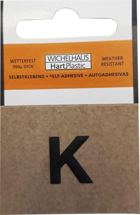 Kirjain Wichelhaus HartPlastic Musta 15 mm K