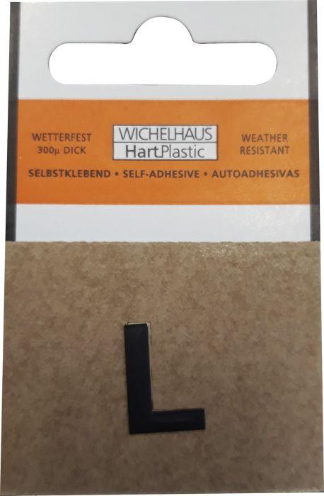 Kirjain Wichelhaus HartPlastic Musta 15 mm L