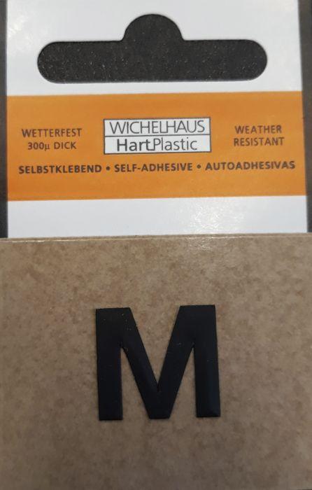 Kirjain Wichelhaus HartPlastic Musta 15 mm M