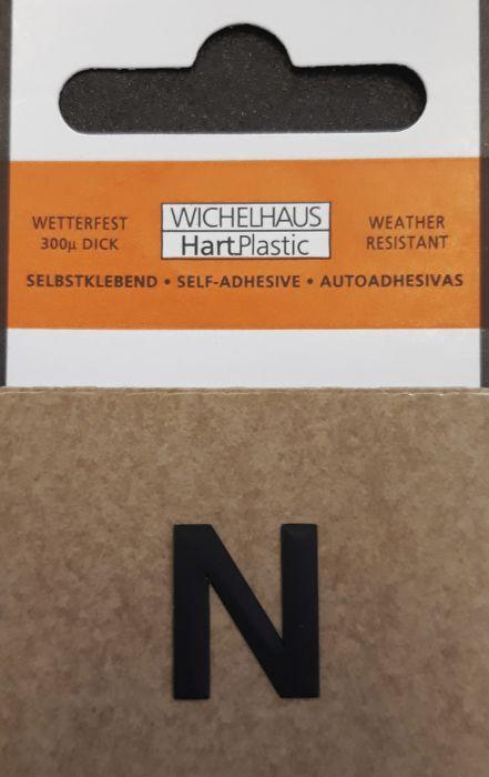 Kirjain Wichelhaus HartPlastic Musta 15 mm N