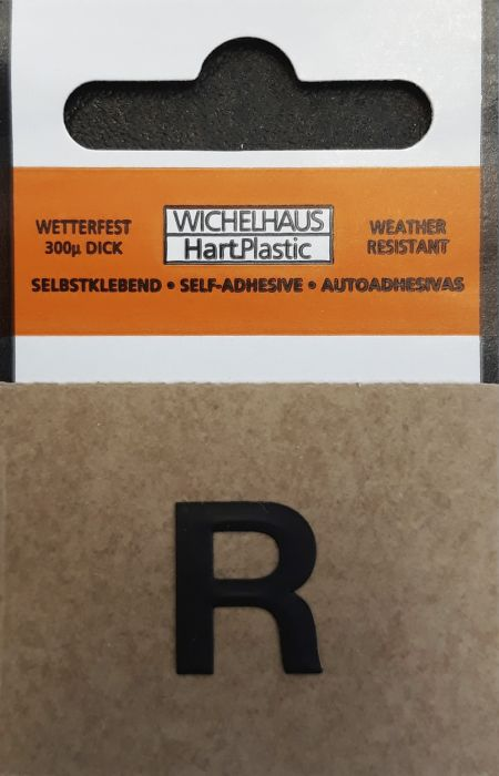 Kirjain Wichelhaus HartPlastic Musta 15 mm R