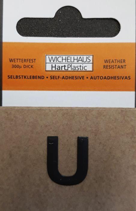 Kirjain Wichelhaus HartPlastic Musta 15 mm
