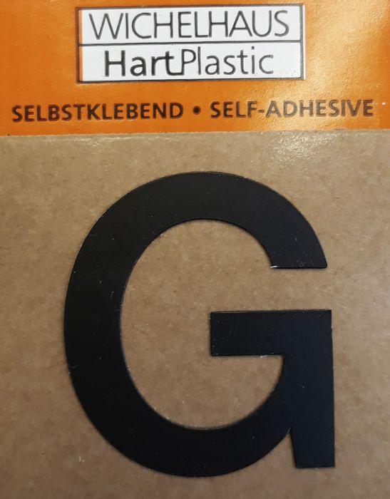 Kirjain Wichelhaus HartPlastic Musta 30 mm G