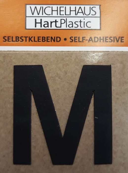 Kirjain Wichelhaus HartPlastic Musta 30 mm M