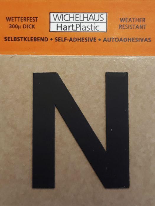 Kirjain Wichelhaus HartPlastic Musta 30 mm  N