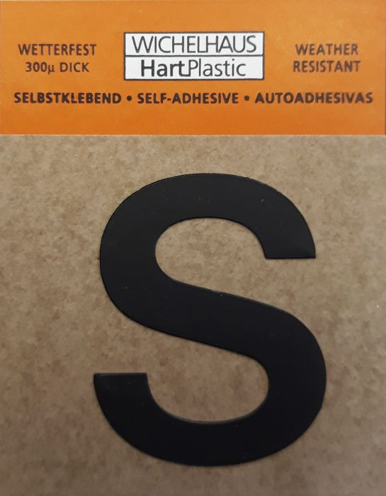 Kirjain Wichelhaus HartPlastic Musta 30 mm S