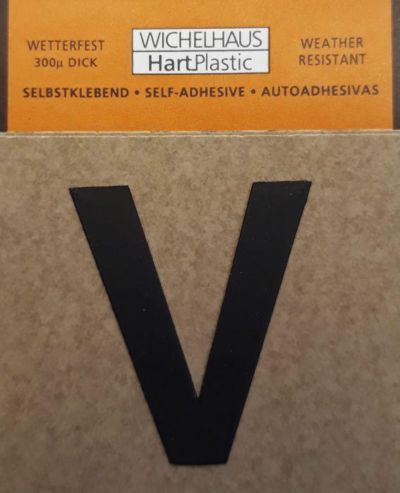 Kirjain Wichelhaus HartPlastic Musta 30 mm V