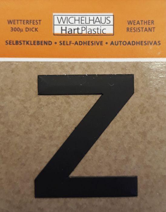 Kirjain Wichelhaus HartPlastic Musta 30 mm Z