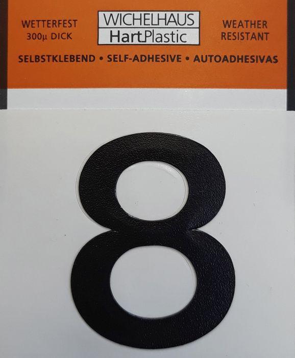 Numero Wichelhaus HartPlastic Musta 30 mm 8