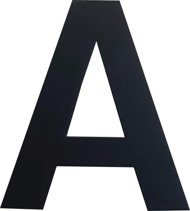 Kirjain Wichelhaus HartPlastic Musta 50 mm A
