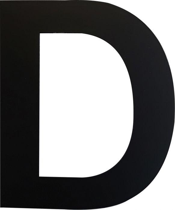 Kirjain Wichelhaus HartPlastic Musta 50 mm D