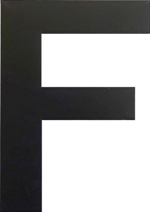 Kirjain Wichelhaus HartPlastic Musta 50 mm F