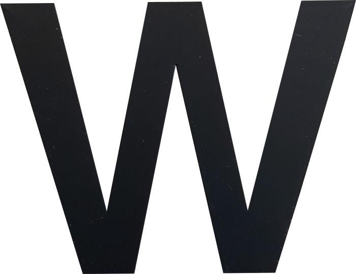 Kirjain Wichelhaus HartPlastic Musta 50 mm W