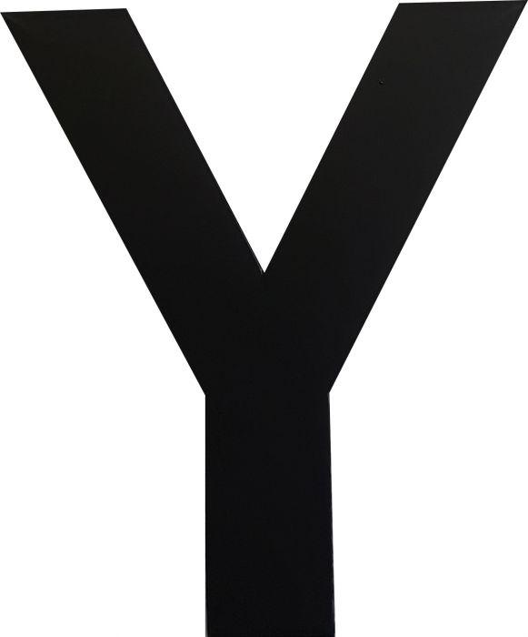 Kirjain Wichelhaus HartPlastic Musta 50 mm Y