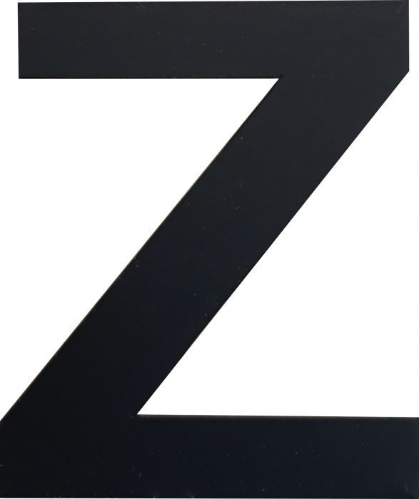 Kirjain Wichelhaus HartPlastic Musta 50 mm Z