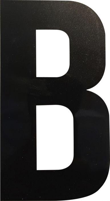Kirjain Wichelhaus HartPlastic Musta 100 mm B