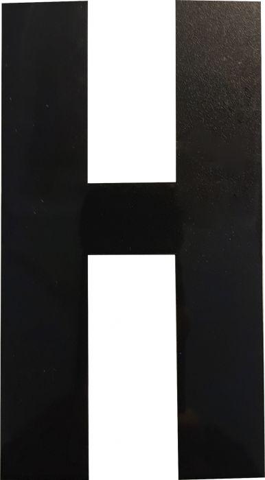 Kirjain Wichelhaus HartPlastic Musta 100 mm