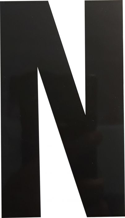 Kirjain Wichelhaus HartPlastic Musta 100 mm N