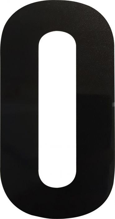 Kirjain Wichelhaus HartPlastic Musta 100 mm  O