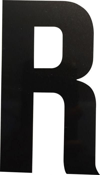Kirjain Wichelhaus HartPlastic Musta 100 mm R