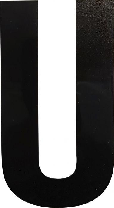Kirjain Wichelhaus HartPlastic Musta 100 mm U