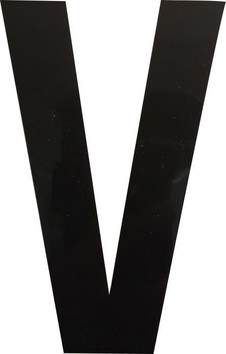 Kirjain Wichelhaus HartPlastic Musta 100 mm V