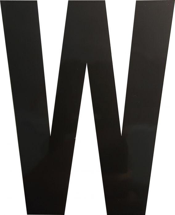 Kirjain Wichelhaus HartPlastic Musta 100 mm W