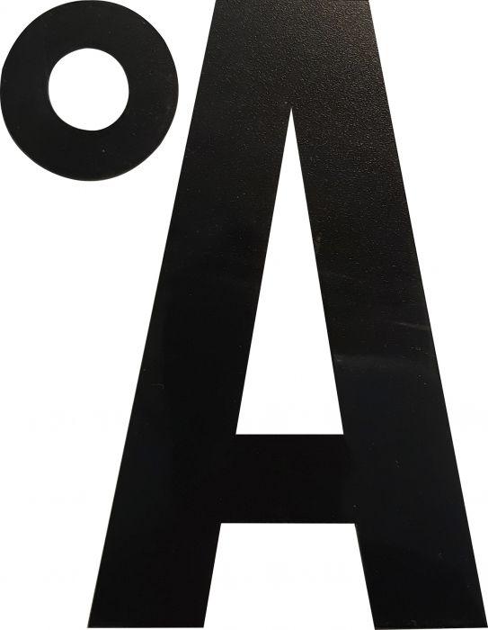 Kirjain Wichelhaus HartPlastic Musta 100 mm Å