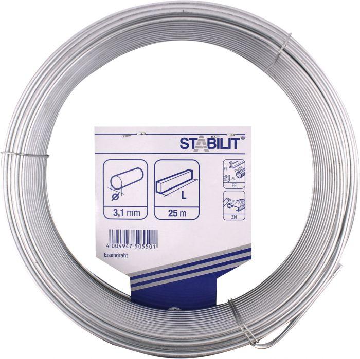 Rautalanka Stabilit Sinkitty 3,1 mm x 25 mm