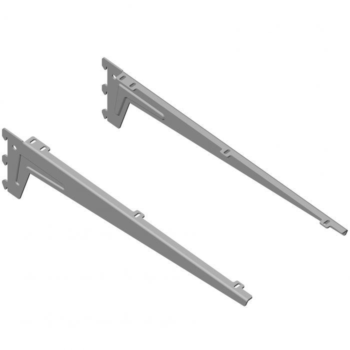 Kulmakannatin Element System Clip Alumiini Harmaa 48 cm