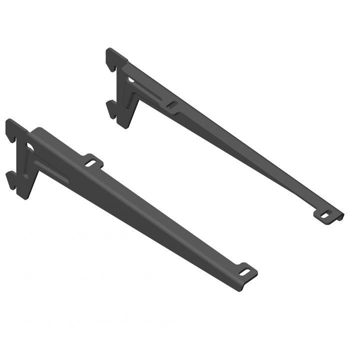 Kulmakannatin Element System Clip Musta 23 cm