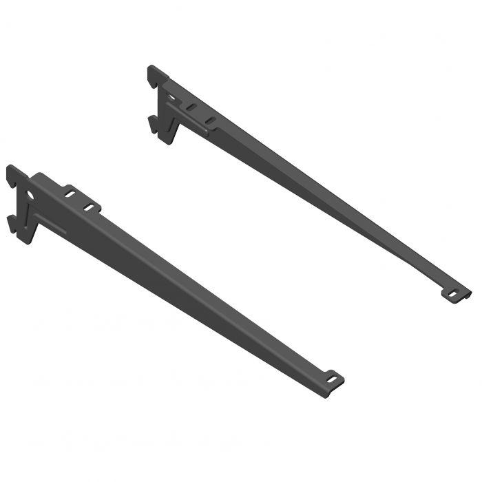 Kulmakannatin Element System Clip Musta 33 cm