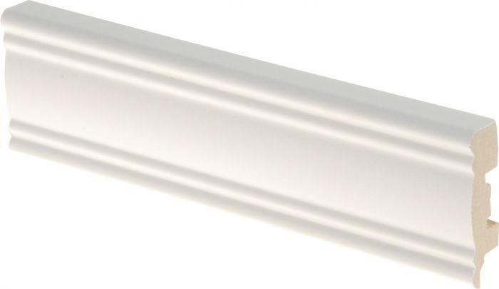 Jalkalista Maler Aura 12 x 42 x 2750 mm MDF Valkoinen