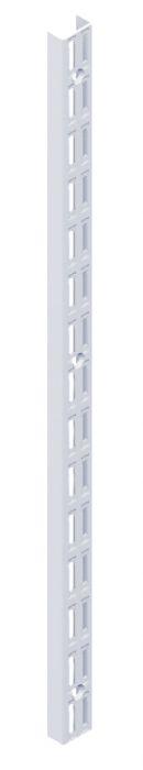 Seinäkisko Element System 2-reikäinen valkoinen 22 cm