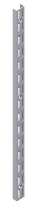 Seinäkisko Element System 2-reikäinen Harmaa Alumiini 206 cm