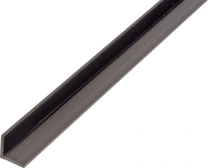 Kulmaprofiili Tasasivuinen Musta 25 x 25 x 1000 mm