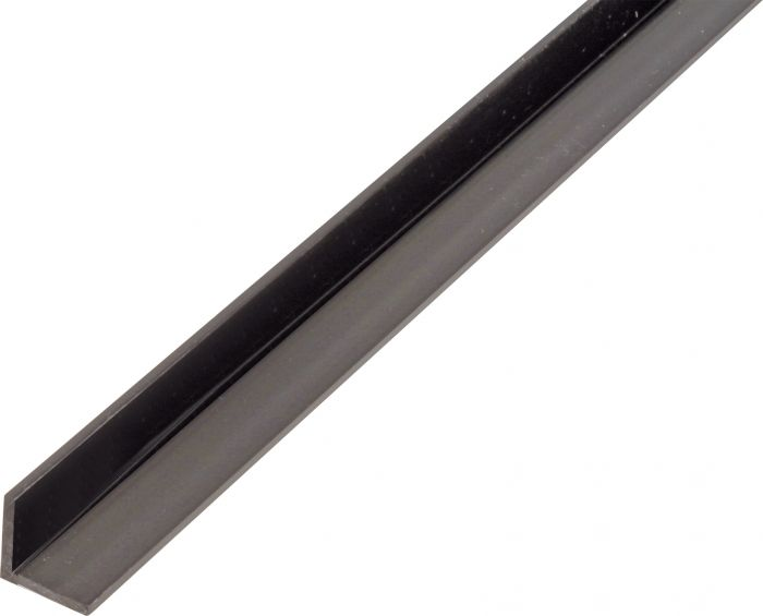 Kulmaprofiili Tasasivuinen Musta 15 x 15 x 1000 mm